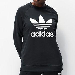 Adidas Trefoil Crewneck Black Sweatshirt Size XL